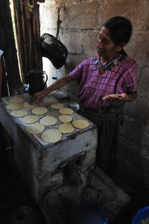 Tortillas making process