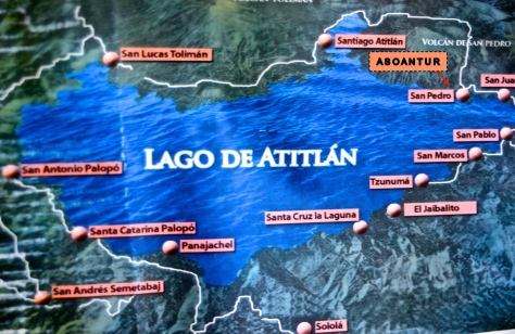 Lake Atitlán map