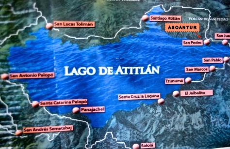 Lake Atitlán map