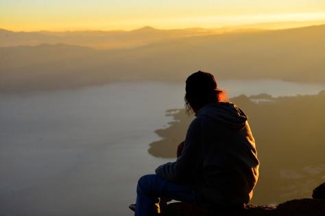 Sunrise from San Pedro volcano