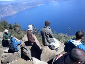 La vista desde el volcán de San Pedro